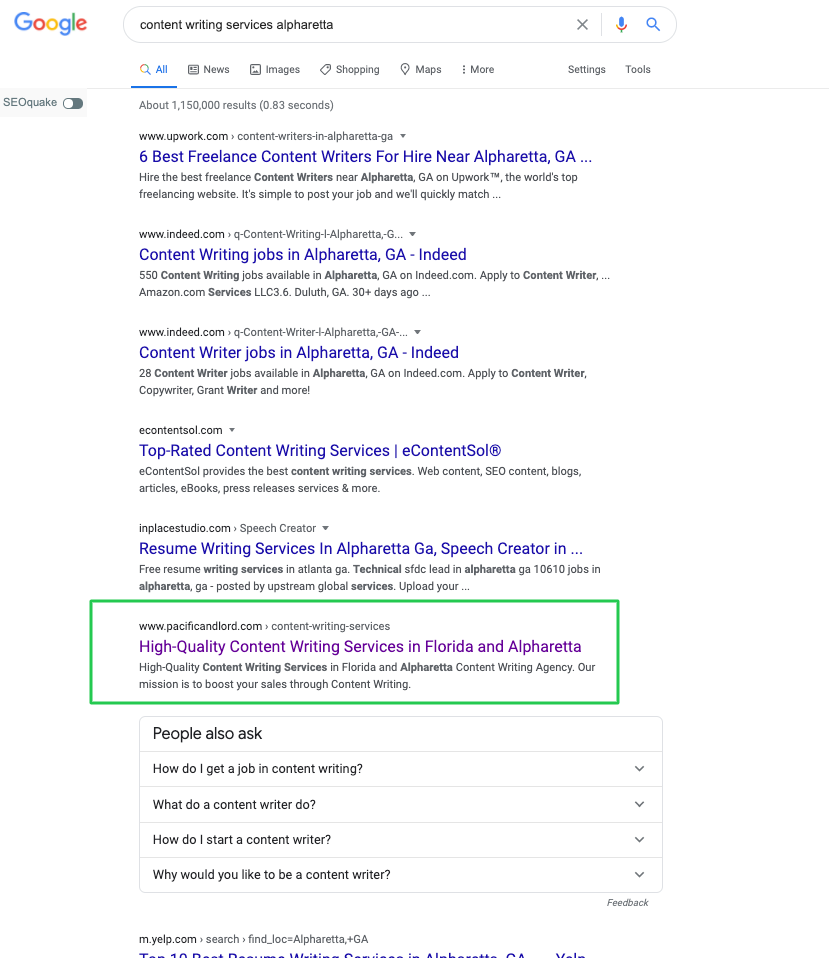 content writing services in alpharetta